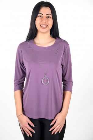 Официална блуза с гердан (лилав)