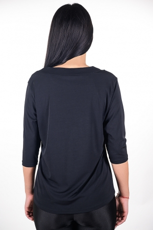 Официална блуза с гердан (черен)