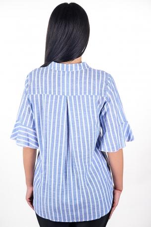 Риза с рае, подходяща за всякакви поводи (син)