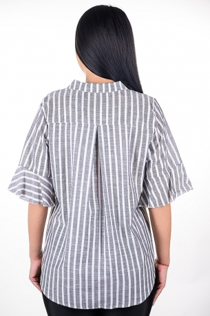 Риза с рае, подходяща за всякакви поводи (сив)