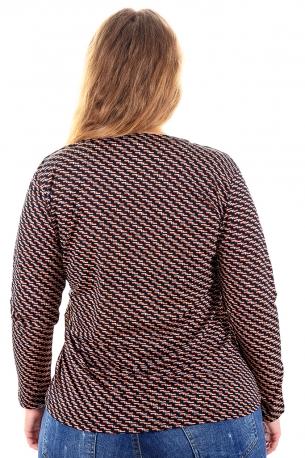 Цветна риза подходяща за всякакви поводи (черно с цветни фигурки)